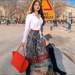 Zara Skirts - ❤️❤️ZARA ANIMAL PRINT PANEL PLEATED SKIRT